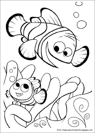 Coloring Pages For Kids Finding Nemo Coloring Pages