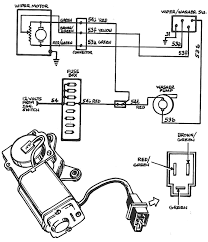 Wiper motor wiring diagram with template pictures