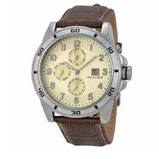 tommy hilfiger watch 1790739 brown leather multi dial men tommy hilfiger watch 1790739 brown leather multi dial men watch pink orchard luxury brands online