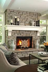 faux river rock electric fireplace stone classicflame 28 fireplaces rustic