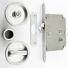 extra barn door lock system circular design bathroom hook for sliding pocket with turn and release polished chrome idea home depot latch lockset hasp canada