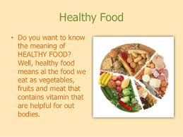Junk Food Healthy Food Chart Junk And Healthy Food