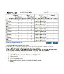 Blood Sugar Monitoring Log Blood Sugar Log 7 Free Word Excel Pdf Documents Download Free