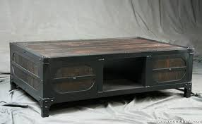 steel coffee table rustic coffee table