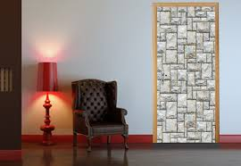 Peel And Stick Wall Decor Door Mural Stone Wall Decor Door Photo Murals Self Adhesive 020
