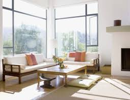 japanese minimalist furniture. Calming Japanese Living Room With Wooden Furniture And Floor Cushions : Minimalist Interior R