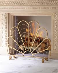 decorative fireplace screens throughout italian gold iron shell screen plans 0