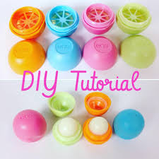 upcyle eos lip balm containers with handmade beauty box