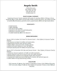 Education Resume Templates Graduate Jobs Internships Careers Enchanting Daycare Teacher Resume