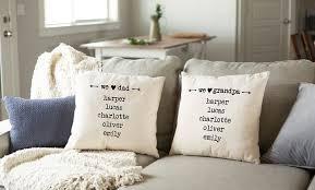 family name throw pillow covers
