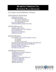 View A Sample Biotech Business Plan Outline Capital West