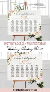 Wedding Seating Chart Template Printable Table Seating Plan