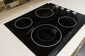 built in stove. Modern Black Induction Stove, Cooker, Hob Or Built In Cooktop With Ceramic Top Stove