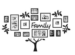 19 piece family tree wall photo frame set picture art gift collage home decor on tree photo collage wall art with home decor family tree picture collage wall art 19 piece photo frame