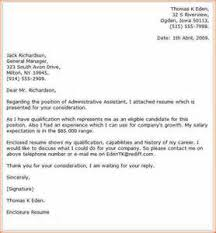 cover letter resume administrative assistant cover letter for resume administrative assistant
