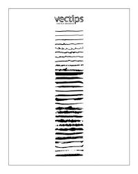 手書き風のフリーillustratorベクターブラシセット30 Sketchy Style