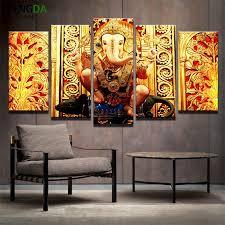 5 piece hindu god ganesh canvas painting wall art it make your day on ganesh canvas wall art with hindu god ganesh it make your day