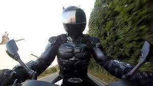 arkham knight ud replicas leather batman motorbike suit test youtube