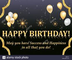 Happy Birthday Business Card Happy Birthday Card With Fireworks And Balloons For Your