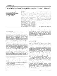 pdf hyperthyroidism during refeeding in anorexia nervosa