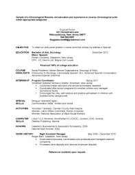 Gallery Of Entry Level Chronological Sample Social Work Resume