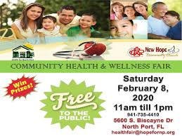 Free Community Health And Wellness Fair Hope For North Port