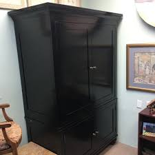 restoration hardware black armoire chairish