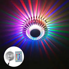 Multi Color Wall Light Led Wall Light 3w Creative Sunflower Sconce Ac85 265v Rgb