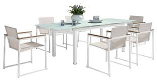 modern outdoor dining table set. furniture ciov best of modern outdoor dining set and extendable glass patio 7 piece table e