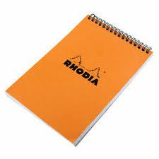 Rhodia Wirebound Notebook 6 X 8 Graph Paper Orange For Sale