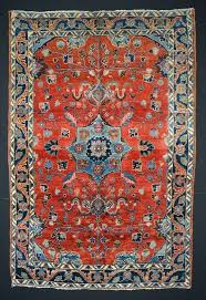 4x6 persian rug vintage fine w center medallion size red blue pink oriental rugs