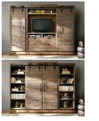 barn door media center. Barn Door Media Center Entertainment Sliding Doors To Hide The When Not In Use Rustic A