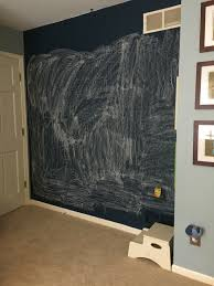 after several months of use the chalkboard was becoming quite difficult to re to its original state of cleanliness