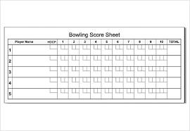 Bowling Chart Template Free 11 Sample Bowling Score Sheets In Google Docs Google