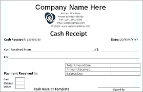 Petty Cash Receipt Template Inspiration Received Payment Receipt Format Fee Money In Excel Download Cash