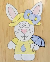 dltks crafts for kids.  Dltks Themed Bunny Craft  Spring On Dltks Crafts For Kids