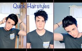 How To Make Cool Hairstyle mens hair quick and easy hairstyles youtube 1786 by stevesalt.us