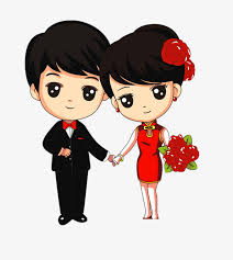 newly married couple wedding couple cartoon png and psd wedding couples png
