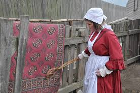 Image result for woman sweeping carpet