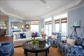 view in gallery blue white living room