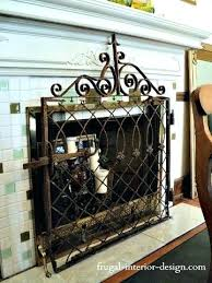 fireplace gate old wrought iron gate as decorative fireplace screen fireplace baby gate diy fireplace centre