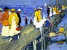 jane peterson paintings for the landing pier edgertown