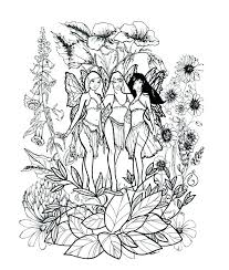 Free Printable Gothic Fairy Coloring Pages Fairies Adult Page Moonoon