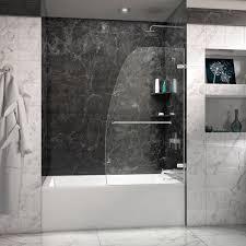 frameless hinged tub door