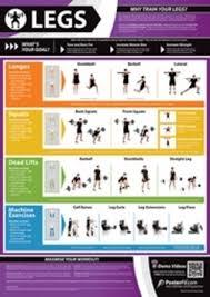 Leg Exercise Poster