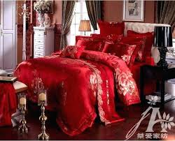 red and grey bedding sets bed sheets brand wedding set luxury comforter king size new arrival