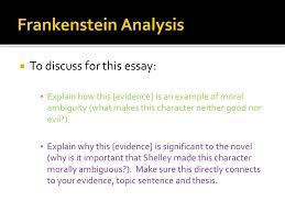 literary analysis essay ppt  frankenstein analysis