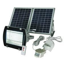 Solar Goes Green Industrial Solar 50 Ft Range WhiteGrey 156SMD Solar Powered Led Lights For Homes