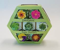 Biodegradable Paper With Flower Seeds W1386 7 Pack Paperboard Hexagon Seedgems Gift Box Seedgems Paper