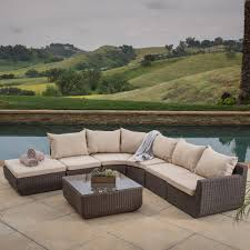 cool outdoor wicker furniture with sunbrella replacement cushions for patio and garden ideas